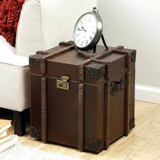 trunk style bedside tables furniture beautiful metal bedside table style tables leather