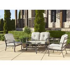 Outdoor Patio Conversation Sets by Cosco Outdoor 5 Piece Aluminum Patio Conversation Set With Coffee