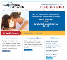 local cremation 100 best funeral home website designs