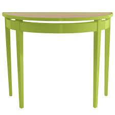 Green Console Table Demilune Lacquer Console Table Lime Green 16 Colors Available
