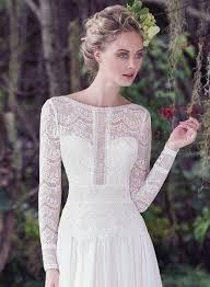 Maggie Sottero Wedding Dress Long Sleeves Bateau Neckline A Line Maggie Sottero Wedding Dresses