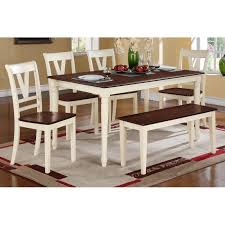 Dining Table Chairs And Bench Set Dining Table 4 Dining Chairs Bench F2391 F1351 F1352 On A