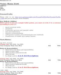 Hairdresser Resume Sample by Resume For Hairdressers Examples