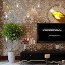 aliexpress com buy european damask diamond wallpaper 3d aliexpress com buy european damask diamond wallpaper 3d stereoscopic modern luxury home decor living room glitter brown wall paper rolls w338 from