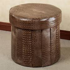 Animal Print Storage Ottoman Almas Animal Print Faux Leather Folding Storage Ottoman