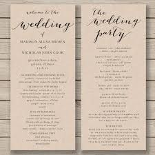 program for wedding ceremony template best 25 wedding program template free ideas on