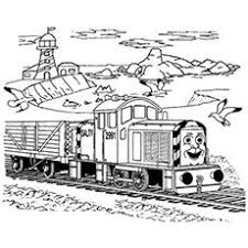 thomas train coloring pages thomas the tank engine passing through the railway on rainy day