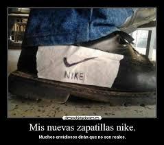 mis nuevas zapatillas nike desmotivaciones
