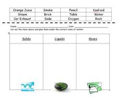 states of matter sorting worksheet by amanda cassella tpt