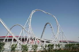 in abu dhabi roller coaster abu dhabi flying aces rollercoaster picture of