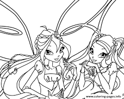 bloom stella winx club coloring pages printable