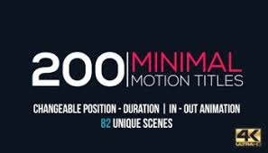 videohive minimal title pack after effects templates free