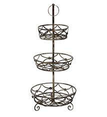 3 tier fruit basket stand image u2014 farmhouse design and furniture