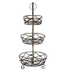 3 tier fruit basket stand image u2014 farmhouse design and furniture