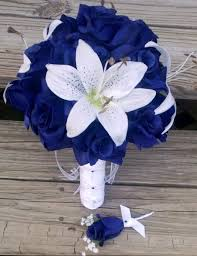 royal blue boutonniere blue white bouquet boutonniere wedding cakes photos