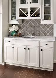 Ceramic Tile For Backsplash by Butlers Pantry Small Butlers Pantry With Herringbone Backsplash