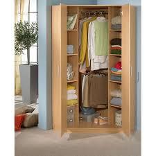 Wardrobe With Shelves by German 2 Door 95cm Oak Corner Wardrobe With Double Hanging Shelves