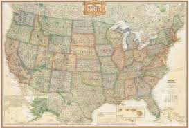 map usa framed united states wall maps