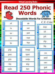 Flashcards Kindle Buy Flash Cards Read 250 Phonic Words Set 1 Decodable Words For