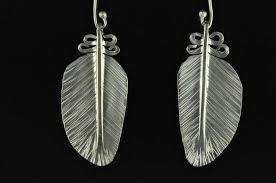 feather earrings nz kereru feather silver earrings nz birds land bob wyber