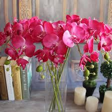 fake flowers for home decor silk floral arrangement home decor faux silk flowers 6pcs