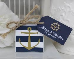 Blue Favor Boxes by Personalized Nautical Anchor Favor Box My Wedding Favors