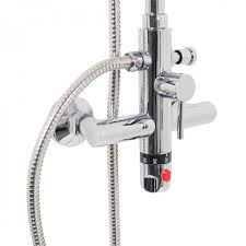 w sh thermostatic twin head shower mixer