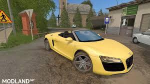 Audi R8 Yellow - audi r8 v10 spyder v 1 0 mod farming simulator 17