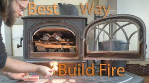 the best way to build a wood stove fire youtube