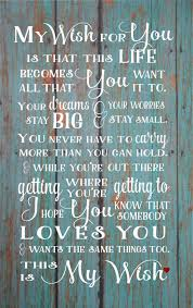 my wish for you rascal flatts song gift wood sign
