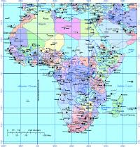 africa map countries and capitals editable africa map with countries and capitals multi color