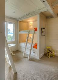 bunkbed ideas built in bunk bed ideas kids contemporary with industrial ladder