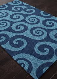 Coastal Indoor Outdoor Rugs Rugada Jaipur Coastal Abstract Pattern Polypropylene Blue