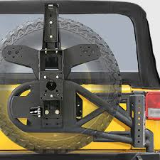 Rugged Ridge Tire Carrier Jeep Jk Rear Tire Carriers U0026 Relocation Brackets
