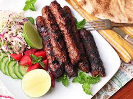 seekh kebabs the grilled spiced pakistani meat on a stick of