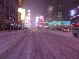 times square new york city usa during winter snow flickr
