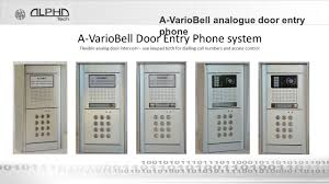 alphatech technologies s r o a variobell door entry phone ppt