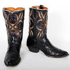 acme cowboy boots vintage black