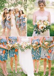 floral print bridesmaid dress bridesmaid dresses with flowers vosoi