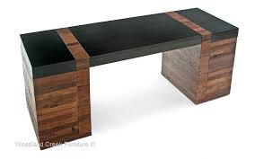 Modern Wooden Desks Rustic Modern Desk Contemporary Wood Office Onsingularity