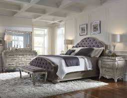 pulaski bedroom furniture rhianna upholstered bedroom set in silver patina