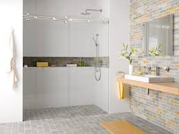 bathroom recessed shower shampoo shelf and tile niche tiling a