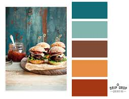 color rust teal never mind the food i like the color