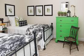 modern bedroom with black lacquer dresser johnfante dressers