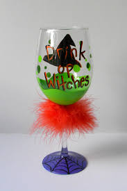 funny halloween wine glass orange more boos please letter