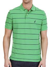 nautica stripe deck anchor polo shirt