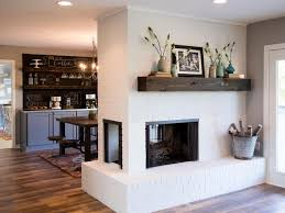 Dining Room With Fireplace by 15 Gorgeous Painted Brick Fireplaces Hgtv U0027s Decorating U0026 Design