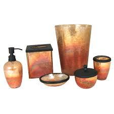 Oil Rubbed Bronze Bathroom Accessory Sets by Paradigm Trends 6 Piece Lava Amber Bathroom Accessories Set Bath