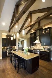 vaulted kitchen ceiling ideas vaulted kitchen ceiling lighting and open concept great room with