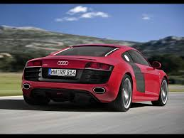2009 Audi R8 5 2 Fsi Quattro Red Rear Angle Speed 1920x1440